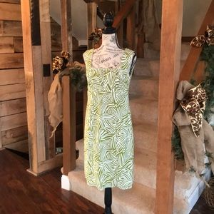 Lime Green and White Dress